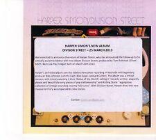 (DZ744) Harper Simon, Division Street - 2013 DJ CD