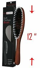 Solid Wood Garment-Clothes Brush with Soft Bristles and Extra Long Handle BR3