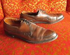 sz 11 A Men's Vtg 60s Freeman Oxford Point Shoes Brown MADE IN THE USA