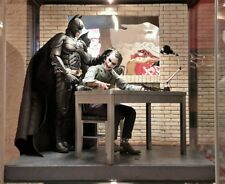 "Hot Toys Scale Batman Joker interrogation Room 1/6 Diorama 12"" IKEA Detolf Shelf"