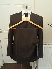 TED BAKER ENDURANCE SUIT 38 + SUIT BAG 100% WOOL , WORKING CUFFS VGC