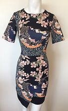 ASOS Designer Dress Size 4 Small S 2 6  Sundress Floral Formal  Bodycon !