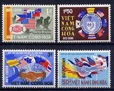 VIETNAM, SOUTH Sc#327-30 1968 Flags of Vietnam's Allies MNH