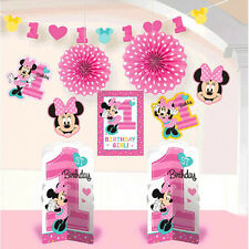 Minnie Mouse 1st Birthday Room Decorating Kit ~ Kids Party Favor Supplies 10pc