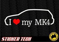 I LOVE (HEART) MY MK4 MKIV VW VOLKSWAGEN GOLF 2000 TO 2006 VINYL STICKER DECAL