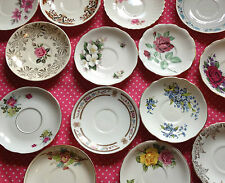 Job lot of 50 Vintage Mismatched China Saucers
