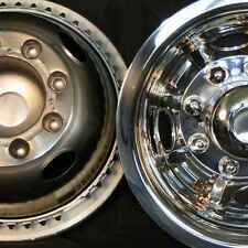 "Dodge 16"" 8 lug motorhome hubcaps rv simulators rear snap on stainless steel"