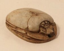 Antique Egyptian heart scarab carved in Steatite stone