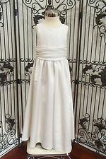 S193 JORDAN L619 SZ 5 D WHITE $140 FLOWER GIRL FORMAL DRESS GOWN