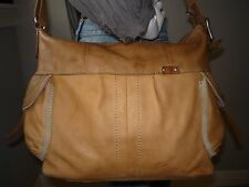 "FOSSIL ""What Vintage Are You?"" Large Leather Crossbody Shoulder Bag Tote"