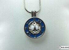 Pick A Pearl Cage Silver Compass Anchor Sailing Charm Holds a Pearl Bead Gem
