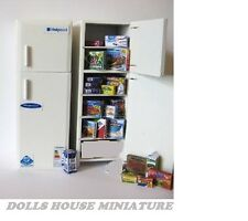 FRIDGE FREEZER  AND ACCESSORIES  DOLLSHOUSE MINIATURE