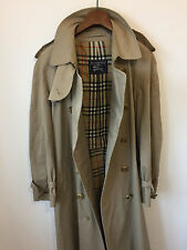 BURBERRY'S OF LONDON TRENCH COAT! MENS M/L 44-46 CHEST! DOUBLE BREASTED! CREAM!