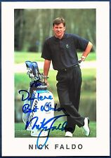 Nick Faldo No.1 Golfer Official World Golfing Ranking Autographed Signed Photo