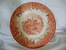 Wedgwood Queen's Ware Moreton Old Hall dinner plate-pink