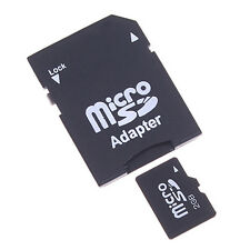 2PCS Micro SD TransFlash TF to SD SDHC Memory Card Adapter Convert  into SD Card