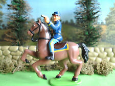 Awsome kids American civil war Union cavalry trooper firing pistols 60mm painted