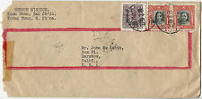 1948 China-US Inflationary Cover: 18 Feb 1948 from Canton to Barstow, California
