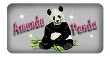 "Panda Bear Vinyl Decal Sticker Personalize Any Text & Colors 3.5"" x 6"" Outdoors"