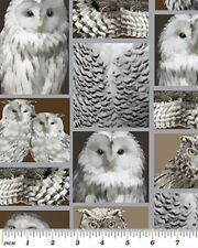 THE GREAT NORTH ~ WILDERNESS SILVER OWL FABRIC