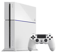 Sony PlayStation 4 White Console with 2 controllers