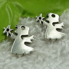 free ship 84 pcs tibet silver angel charms 20x18mm #3750
