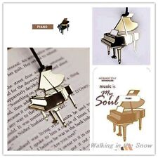 Piano Instrument Gold-plated Stainless Metal Music Art Bookmark Perfect Gift