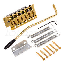 Gold ST Style Electric Guitar Tremolo Bridge Single Locking System