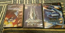 JAPAN PS2 Thunder Force VI 6, GRADIUS 3&4, GRADIUS V 5.ALL BLACK LABEL w Manual