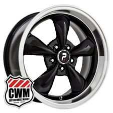 "17 inch 17x8"" Classic 5 Spoke Black Wheels Rims for Chevy Camaro 82-92"