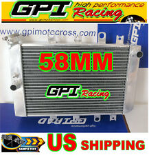 GPI 58MM ALUMINUM RADIATOR YAMAHA ATV QUAD GRIZZLY YFM700/550 07-11 08 09 2010