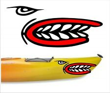SHARK TEETH MOUTH DECAL STICKERS KAYAK CANOE JET HOBIE DAGGER OCEAN boat MPN 2 1