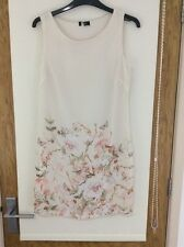 Size 6 Dress Cream with Bird / Butterfly design great wedding / races / summer