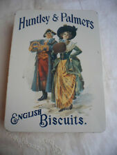 VINTAGE OLD TIN HUNTLEY & PALMERS ENGLISH BISCUITS