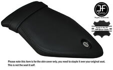 BLACK DOUBLE STITCH CUSTOM FITS BMW S 1000 RR 15-16 REAR LEATHER SEAT COVER