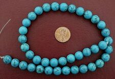 "10mm Round Gems Synthetic Turquoise Beads 15"" Strand"