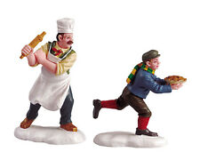 Lemax Village Chef Pie Thief Figurines Christmas Accessory Set of 2 House Figure