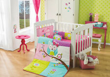 New Baby Girls Beautiful Owl Magical Dreams Crib Bedding Set 6 pc