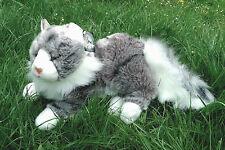Maine Coon Katze, liegend 33 cm (Designerware), Plüschkatze