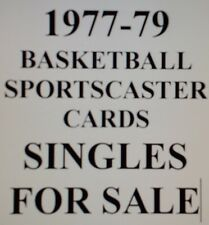 1977-79 BASKETBALL Sportscaster cards - $0.99 EACH - YOUR PICK!!