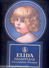 """"""" ELIDA Shampoo"""" Orig. Schaufenster - Blickfang in Sonderform~ 1928 Litho Karton"""
