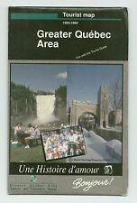 1993-1994 SHELL TOURIST MAP-GREATER AND DOWNTOWN QUEBEC STREET MAP CANADA-USED