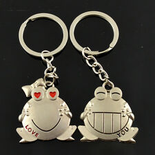 2pcs Fashion Love Key Ring Couples Romantic Keychain Lover Gift SK41