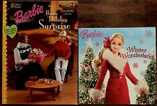 Barbie Gift Set ~ Special Edition Holiday Coloring Book & Story ~ New!