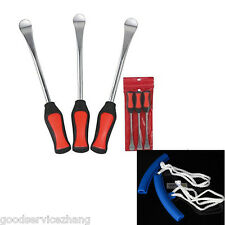 Three Spoon Motorcycle Tire Levers Irons Changing Tool 2x Wheel Rim Protectors