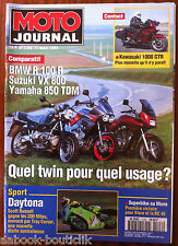 MOTO JOURNAL 17/03/1994; Comparatif BMW R 100 R/ Suzuki VX 800/ Yamaha 850 TDM