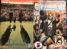 THE WALKING DEAD #164 REG & IMAGE TRIBUTE CVR SET SIGNED BY CHARLIE ADLARD w/COA