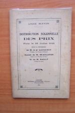 LYCEE BUFFON DISTRIBUTION SOLENNELLE DES PRIX FAITE LE 13 JUILLET 1931