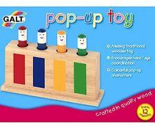 Galt Toys in legno classico per bambini giocattolo Pop-Up 4 Figure COLORATI 12 mesi + NUOVO