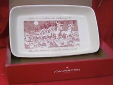 JOHNSON BROTHERS TWAS THE NIGHT BEFORE CHRISTMAS LARGE BAKER SERVING DISH NIB